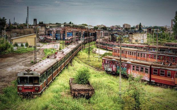 Częstochowa, un dépôt de train abandonné en Pologne