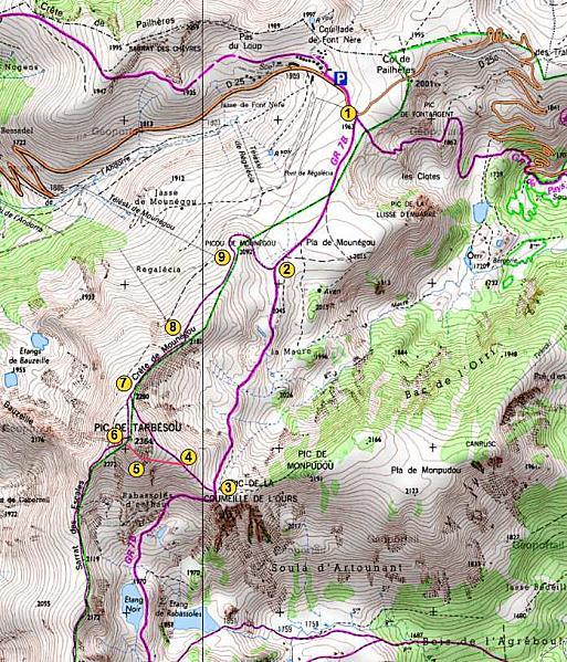 Randonnée : du col de Pailhères au Pic de la Coumeille de l'Ours