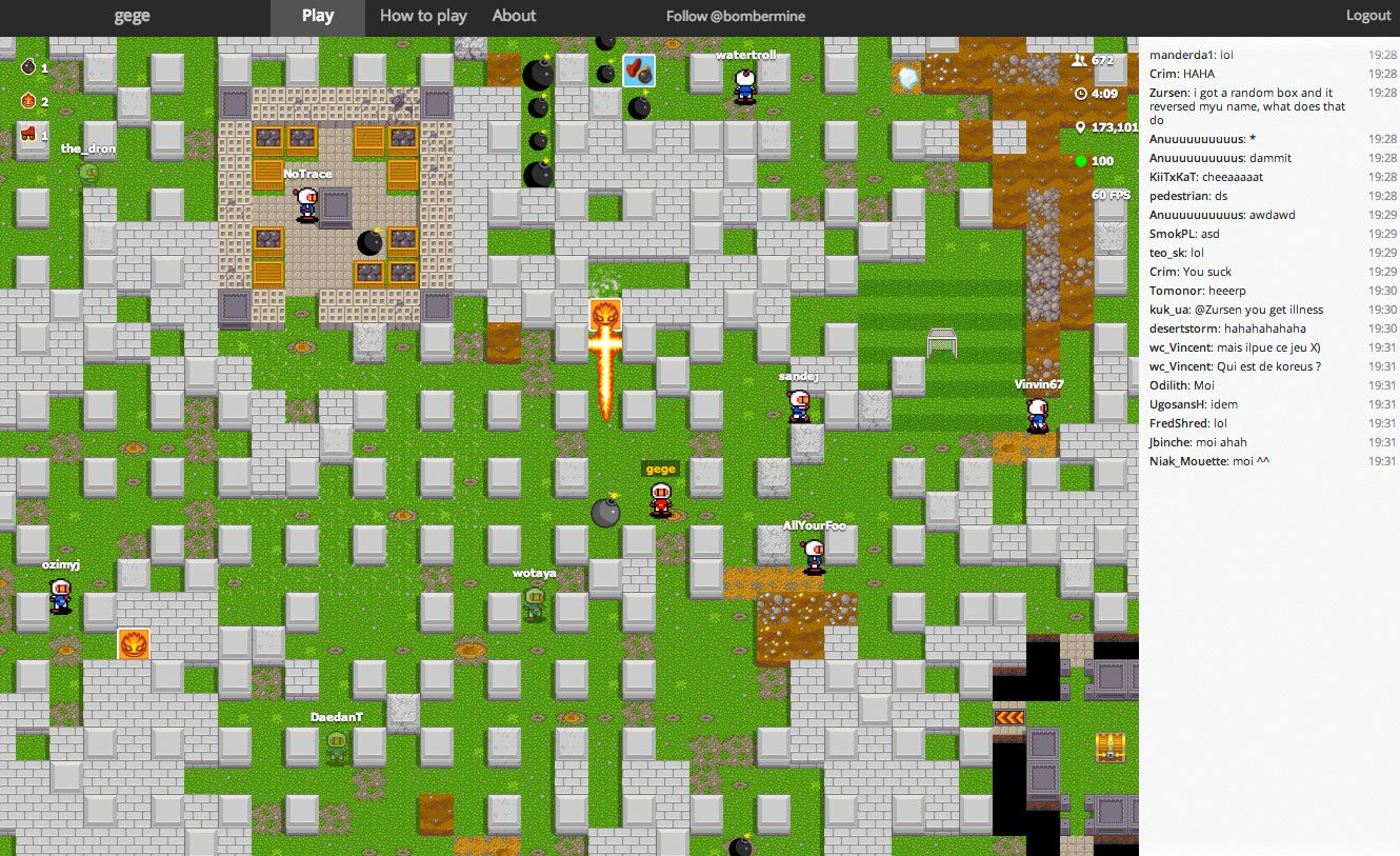 Un bomberman multiplayer en HTML 5