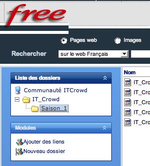 Interface dl.free.fr