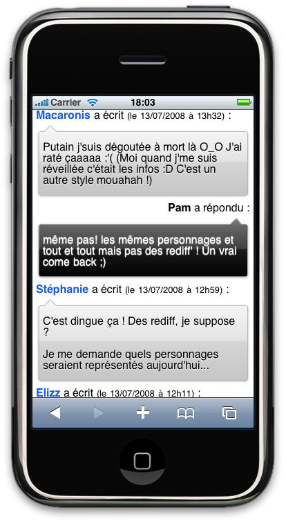 Commentaires Over-blog iPhone