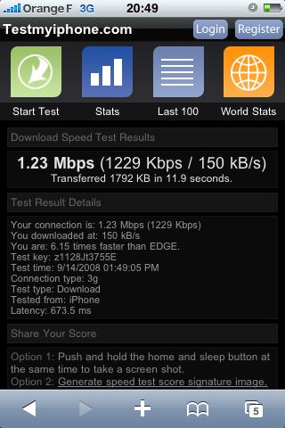 Orange 3G débridée