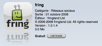Fring iPhone AppStore