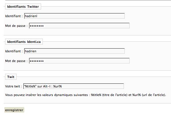 TwitterPost Identi.ca