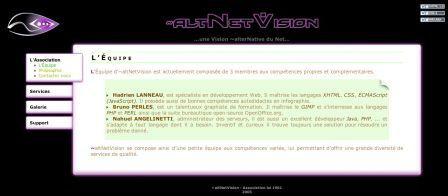 association  ~altNetVision home page site web