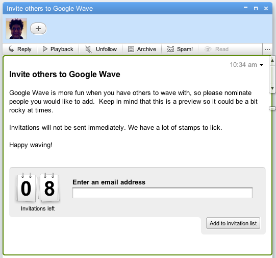 Invitation Google Wave