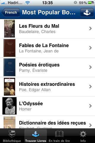 Project Gutenberg livres français