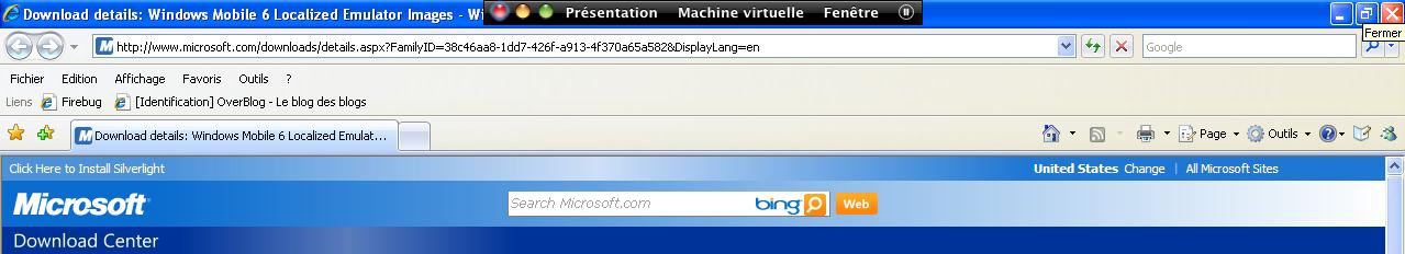 Microsoft.com sous IE8