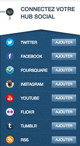 Le Hub Social, accessible depuis votre administration > activité
