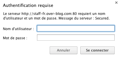 Sans mot de passe pas d'accès au contenu du blog !