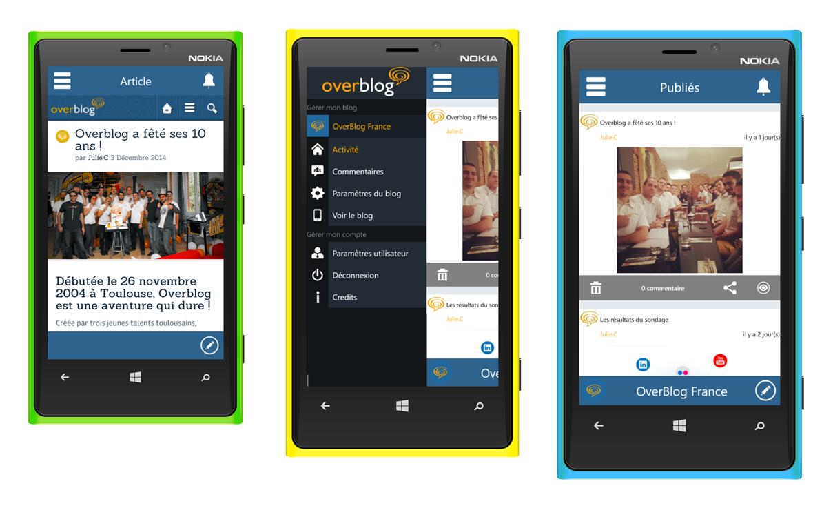 Overblog débarque sur Windows Phone !
