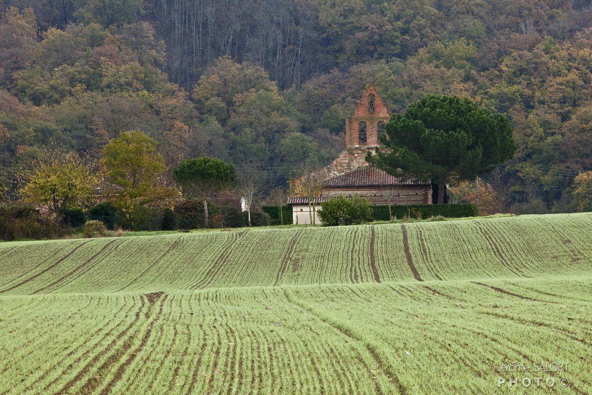 Sur la route entre La chapelle de Saint Amans (photo 1) et la chapelle de l'Aouach en passant par le Chateau Ribonnet.