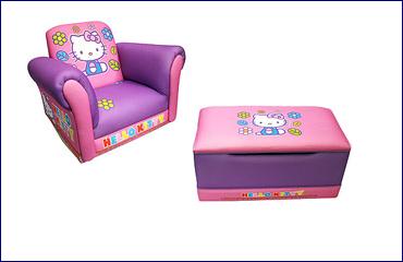Hello Kitty poltrona e contenitore pouf - Oggi mamma news