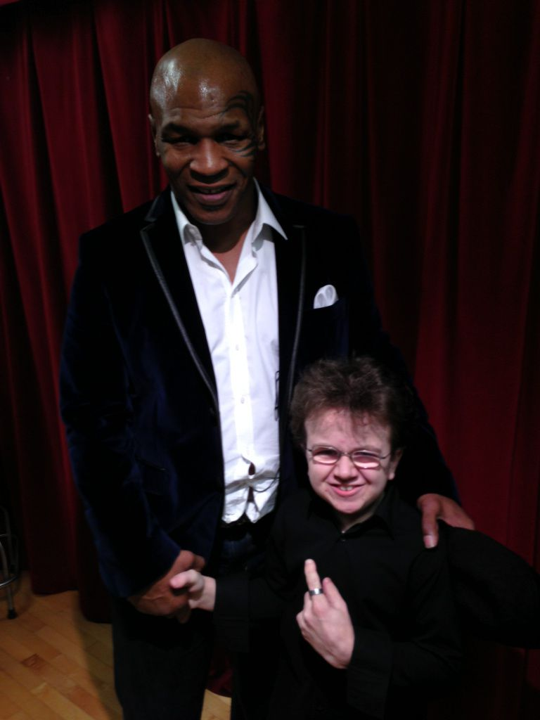 Keenan Cahill and Mike Tyson Backstage at his Undisputed Truth Tour in Chicago, IL