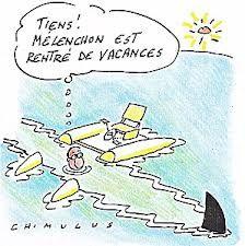 Hollande sur son pédalo