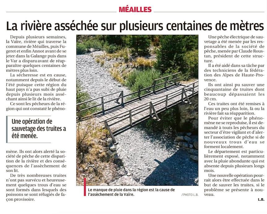 Entrevaux Annot, Meailles , St André les Alpes , La Foux d'Allos