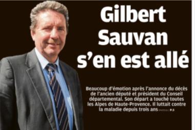 hommage à Gilbert Sauvan ,Allons ,St André les Alpes