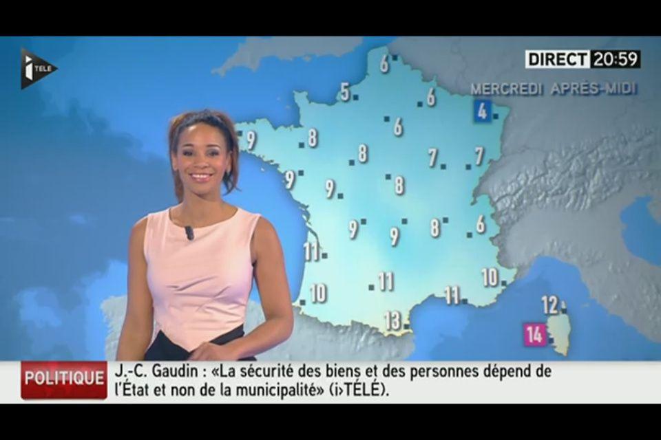 [EN CE MOMENT] ALICIA FALL pour LA MÉTÉO d'i&gt&#x3B;télé ce soir
