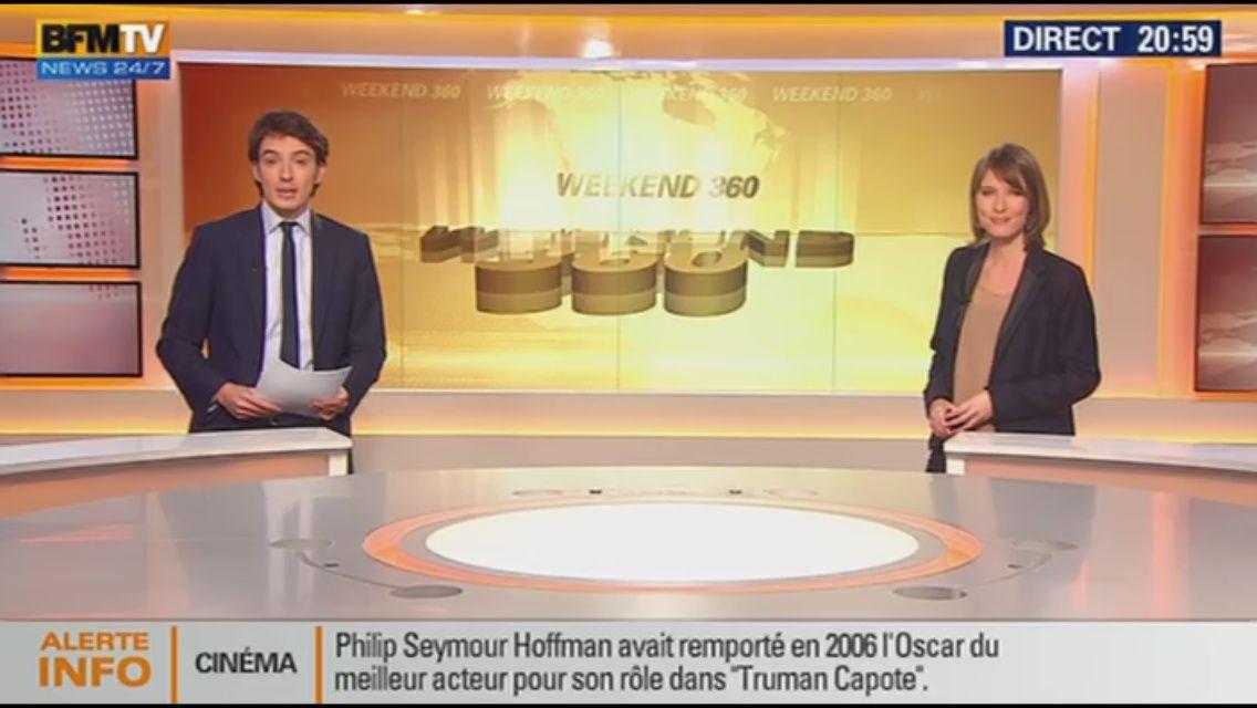 [EN CE MOMENT] LUCIE NUTTIN ce soir pour WEEK-END 360 sur BFM TV