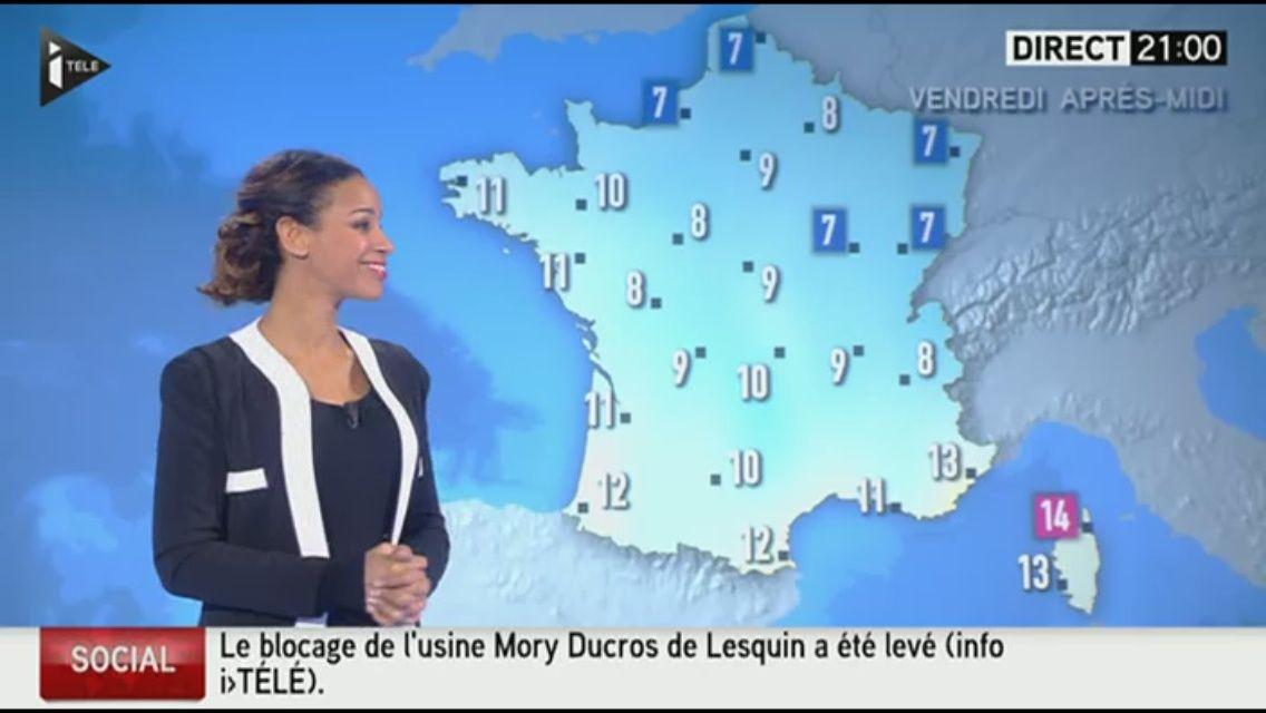 [EN CE MOMENT] ALICIA FALL pour LE MÉTÉO d'i&gt&#x3B;télé ce soir