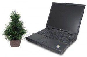 USB en forma de árbol navideño