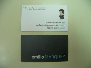 Tarjeta de visita Emilio Mrquez