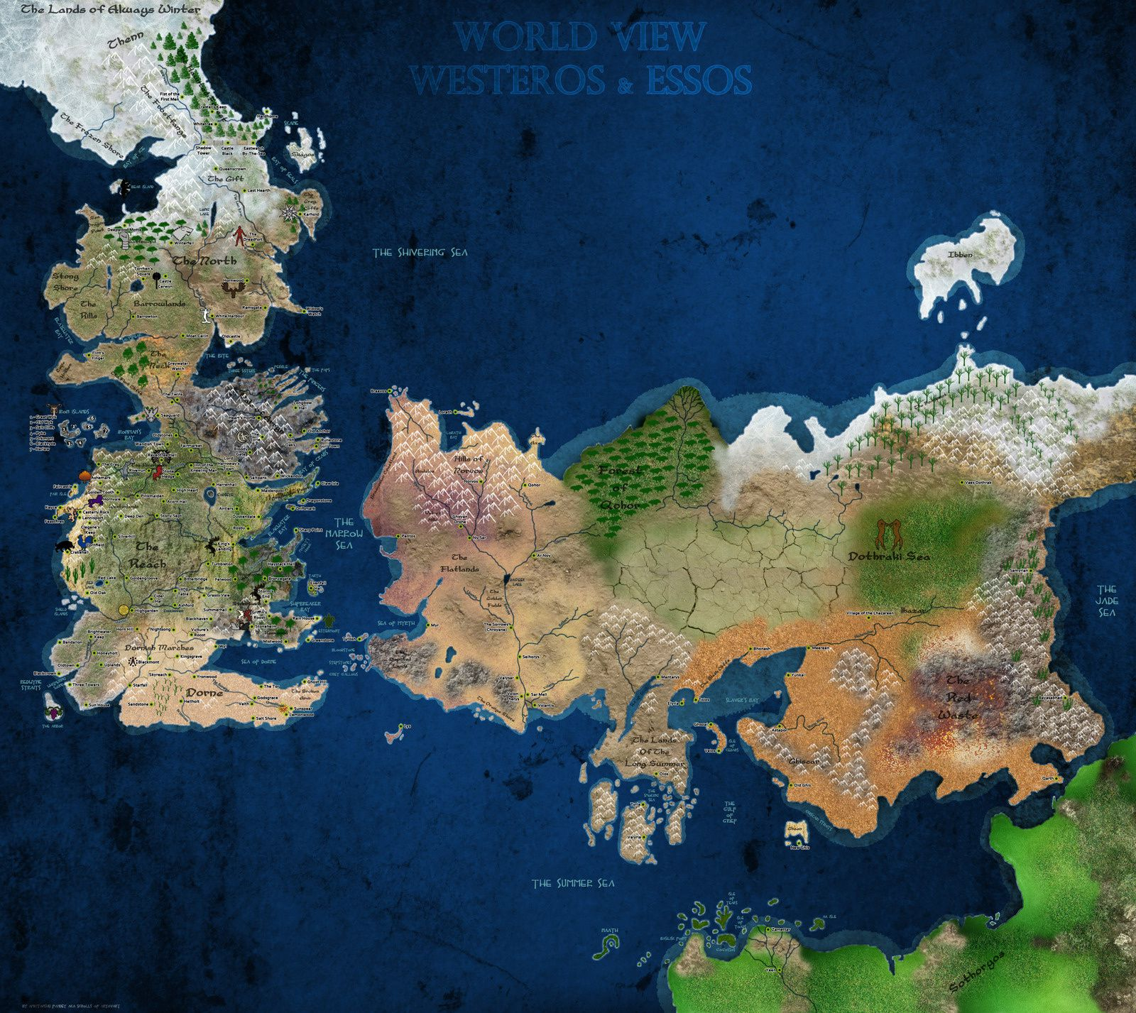 Game of Thrones - Les Cartes du Monde Connu