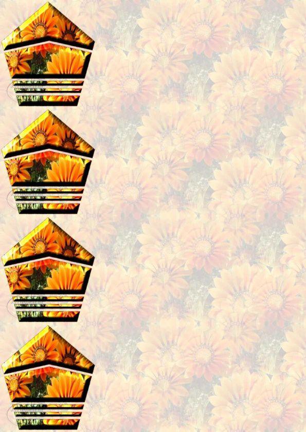Fleurs Papiers A4 haut