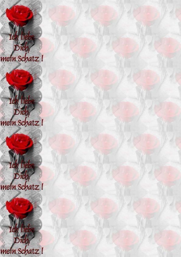 Ich Liebe Dich Mein Schatz Rose Rouge Im Papier A4 H Outlook