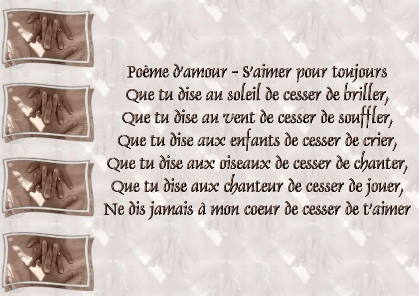 exemple de poeme d amour