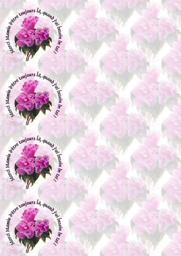 Merci Mamie d'être toujours là, quand j'ai besoin de toi !   merci_mamie_besoin_de_toi_pink_flowers_mm_00