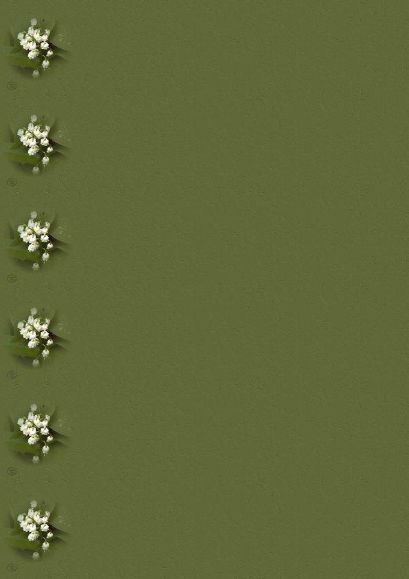 Muguet Incredimail &amp&#x3B; Papier A4 h l &amp&#x3B; outlook &amp&#x3B; enveloppe &amp&#x3B; 2 cartes A5 muguet_fond_vert