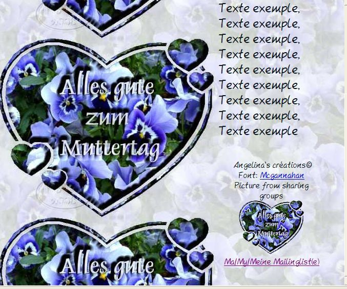 Alles gute zum Muttertag Incredimail &amp&#x3B; Papier A4 h l &amp&#x3B; outlook &amp&#x3B; enveloppe &amp&#x3B; 2 cartes A5 &amp&#x3B; signets  alles_gute_zum_muttertag_36325950cbsums