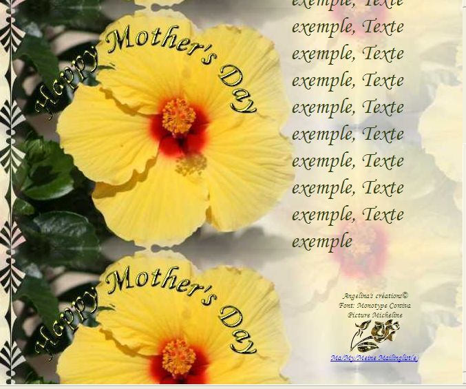 Happy Mother's day Incredimail &amp&#x3B; Papier A4 &amp&#x3B; outlook   happy_mothers_day_fleur_micheline_hibiscus_03_05_06