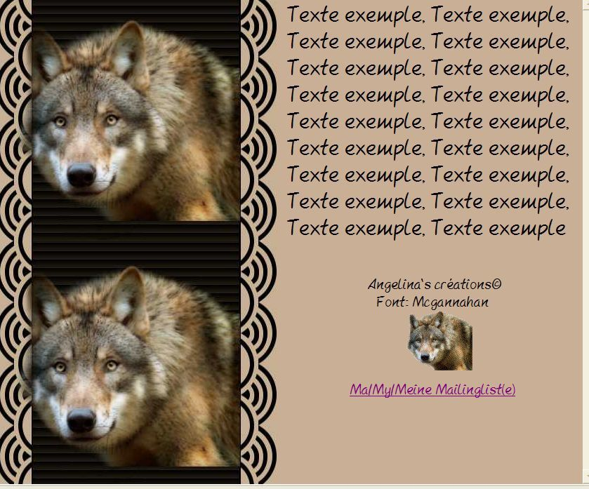 Loup Incredimail &amp&#x3B; Papier A4 h l &amp&#x3B; outlook &amp&#x3B; enveloppe &amp&#x3B; 2 cartes A5  loup_mds1702wolf09_01_07