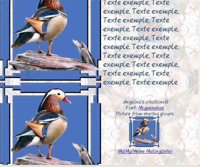 Canard Incredimail &amp&#x3B; Papier A4 h l &amp&#x3B; outlook &amp&#x3B; enveloppe &amp&#x3B; 2 cartes A5      ois_saphiere_bird_115