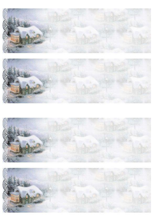 Maison dans la neige Incredimail &amp&#x3B; Papier A4 h l &amp&#x3B; outlook &amp&#x3B; enveloppe &amp&#x3B; 2 cartes A5 &amp&#x3B; signets 3 langues plus Noël multilangues      pays_hivernal_silent_night_00