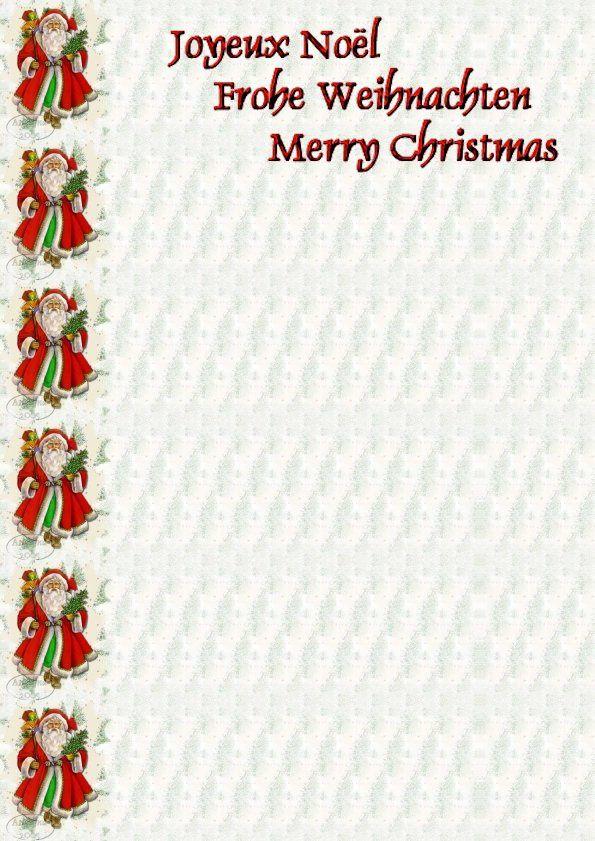 Thème Noël Père Noël rouge et vert Incredimail &amp&#x3B; Papier A4 h l &amp&#x3B; outlook &amp&#x3B; enveloppe &amp&#x3B; 2 cartes A5 &amp&#x3B; signets 3 langues plus Noël multilangues  th_noel_showletteriuh