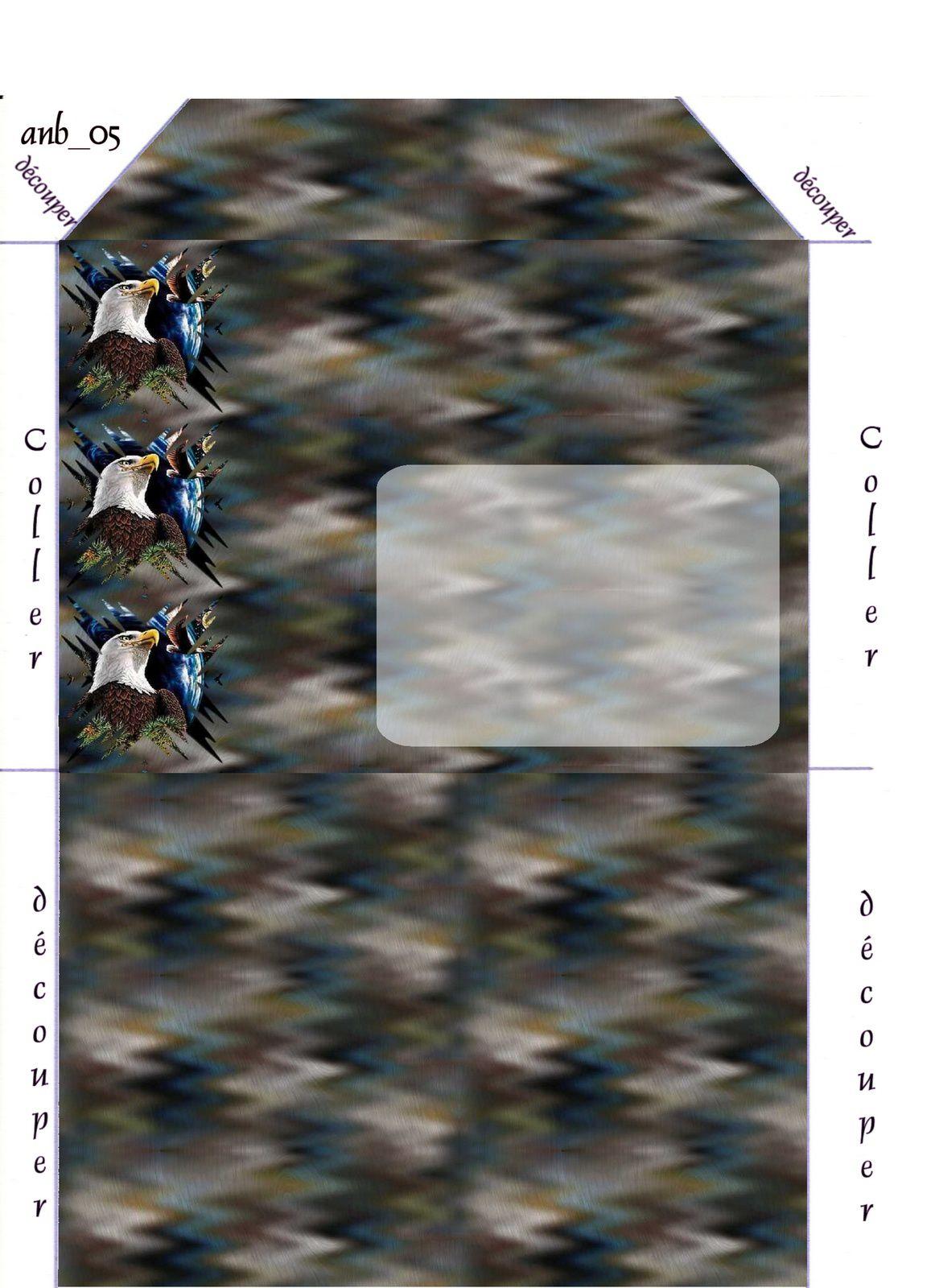 Aigle Incredimail &amp&#x3B; Papier A4 h l &amp&#x3B; outlook &amp&#x3B; enveloppe &amp&#x3B; 2 cartes A5 &amp&#x3B; signets 3 langues   aigle3