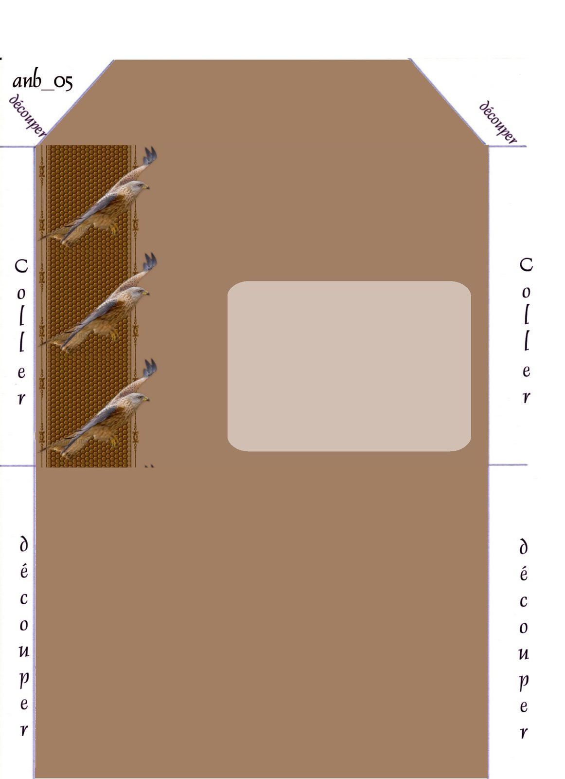 Aigle Oiseau Incredimail &amp&#x3B; Papier A4 h l &amp&#x3B; outlook &amp&#x3B; enveloppe &amp&#x3B; 2 cartes A5 &amp&#x3B; signets 3 langues  ois_saphiere_bird_40