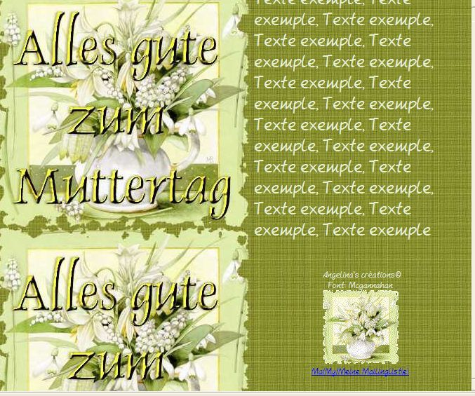 Alles gute zum Muttertag Incredimail &amp&#x3B; A4 h l &amp&#x3B; outlook &amp&#x3B; enveloppe &amp&#x3B; 2 cartes A5 &amp&#x3B; signets alles_gute_zum_muttertag_bastin11