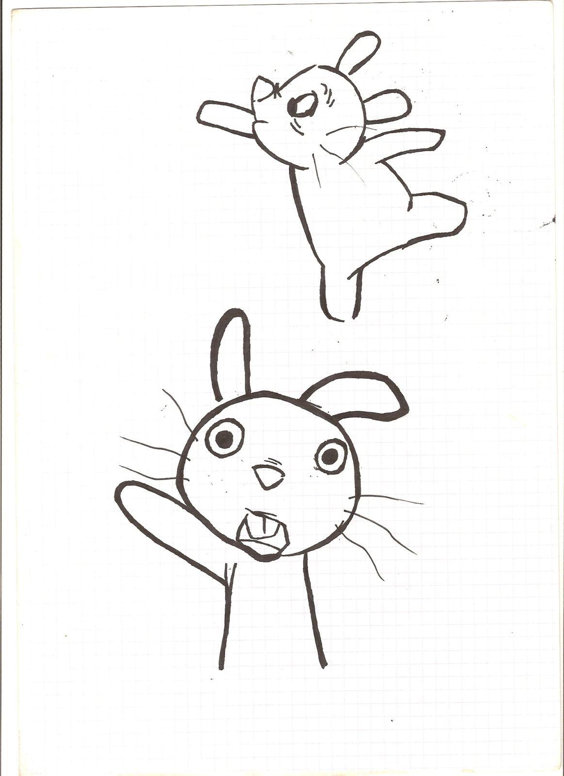 Bunny - India ink 2