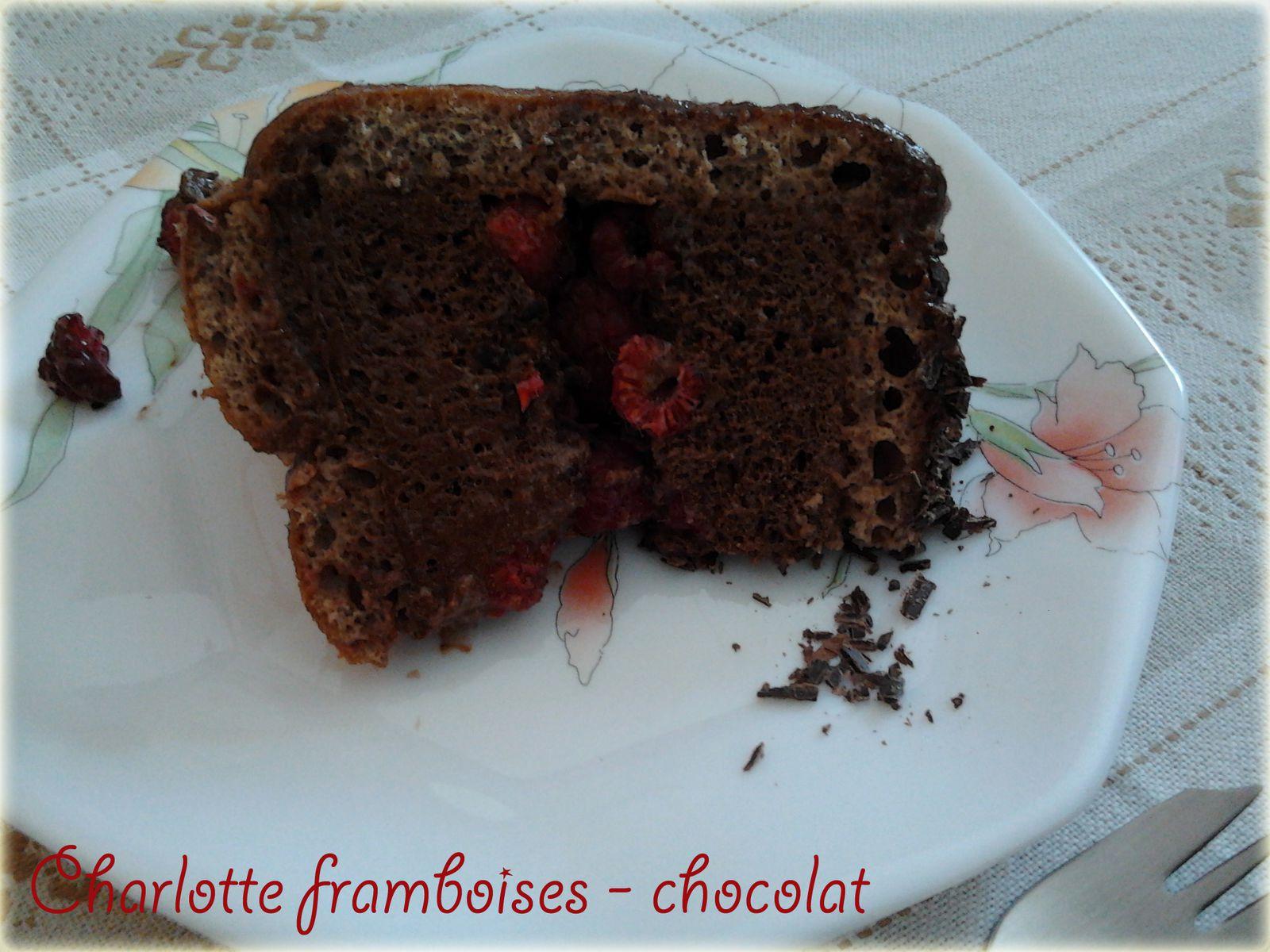 Charlotte framboises - chocolat