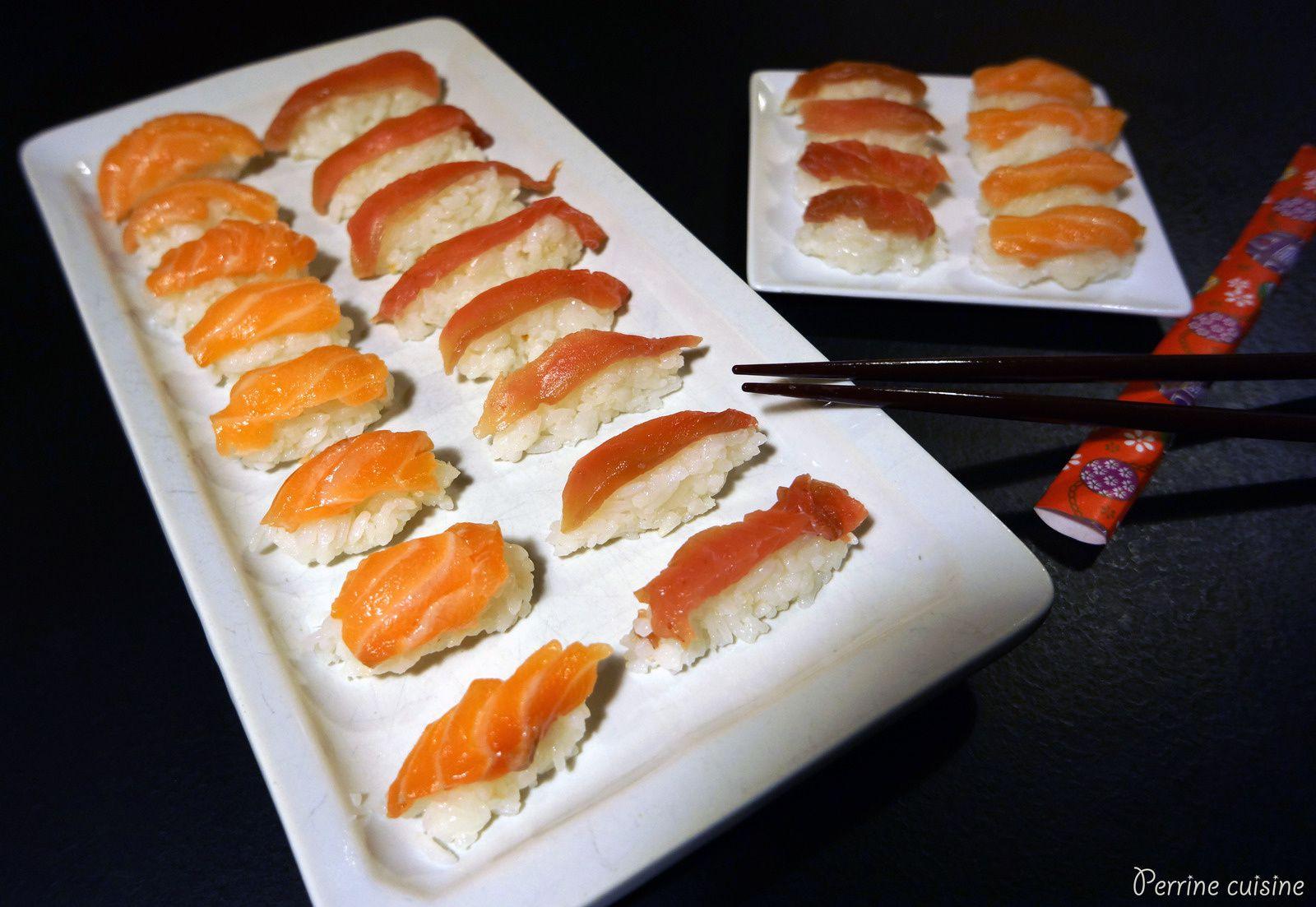 Des sushis au thon et saumon frais!