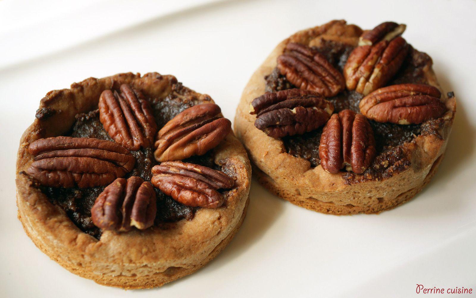 Tartelettes aux noix de pécan et pâte à tartiner