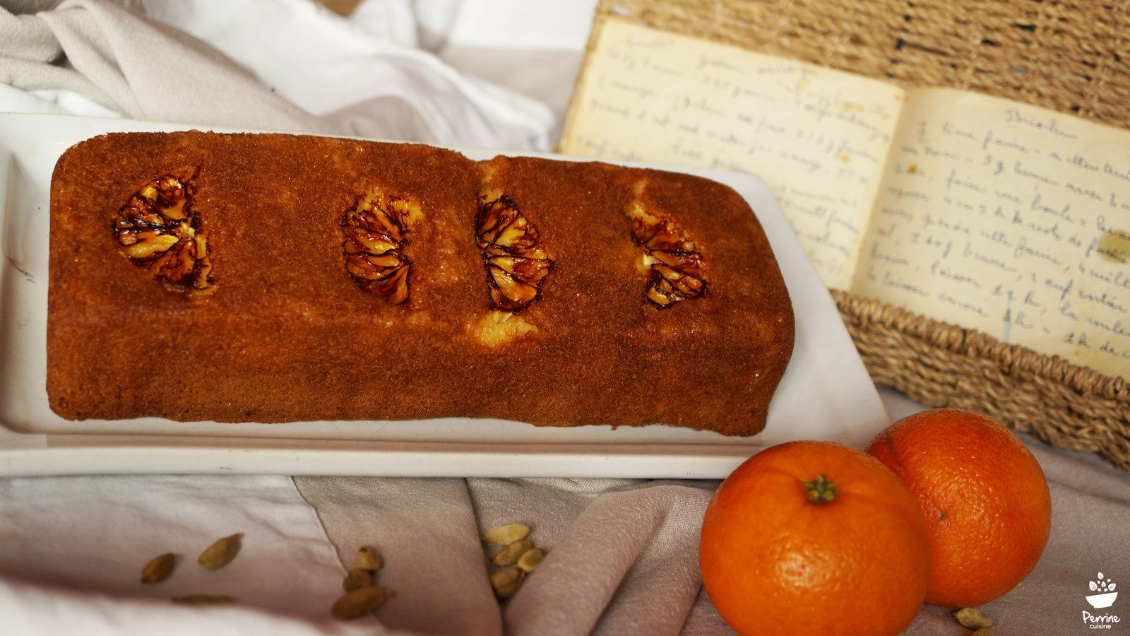 Gâteau orange de ma grand-mère, revisité à la cardamome