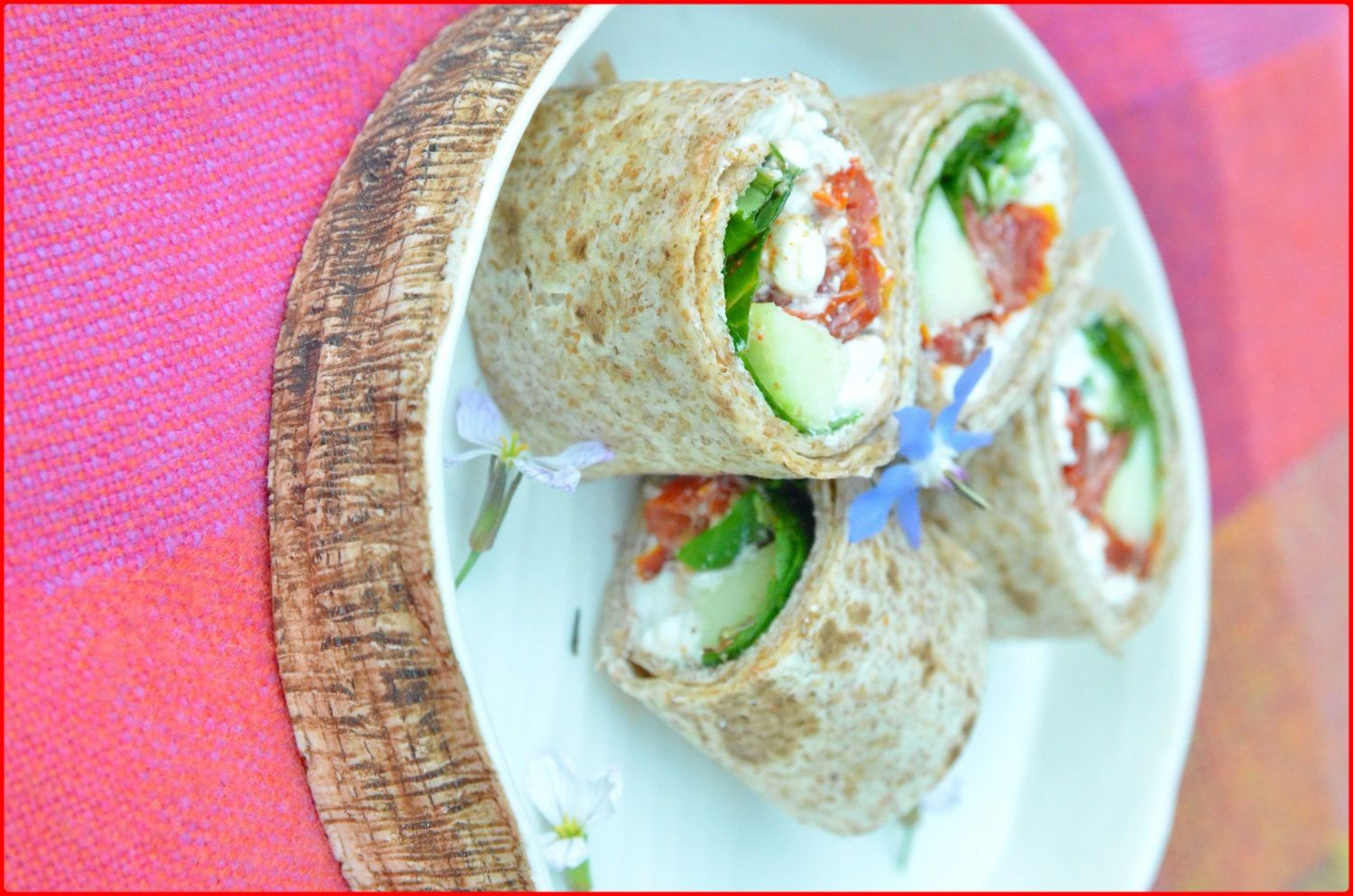 Maki wraps au cottage cheese - Wrap apero dinatoire ...