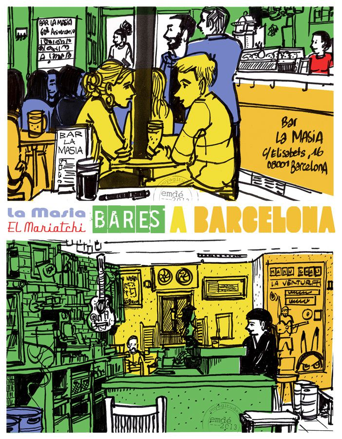 Soniquete a colores : croquis de Barcelone