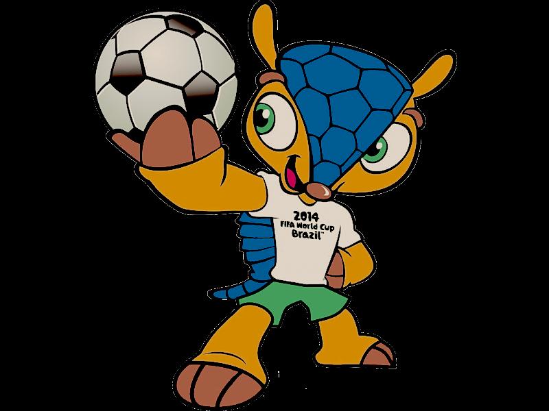 Fuleco, la mascotte de la 20ème édition de la Coupe du Monde du football au Brésil.