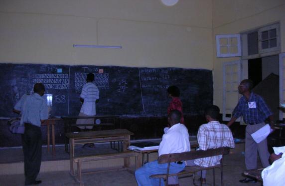 Un bureau de vote dans la ville de Majunga. Les Malgaches connaîtront-ils l'effervescence d'un bureau de vote cette année? C'est toute la question qui reste en suspens dans le courant de ce mois d'août.